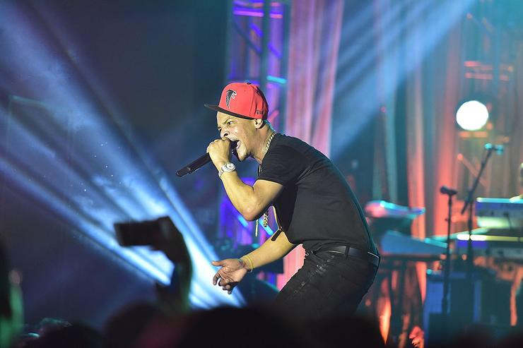 Rapper T.I. performs onstage at TIDAL X: TIP at Greenbriar Mall on February 22, 2016 in Atlanta, Georgia.