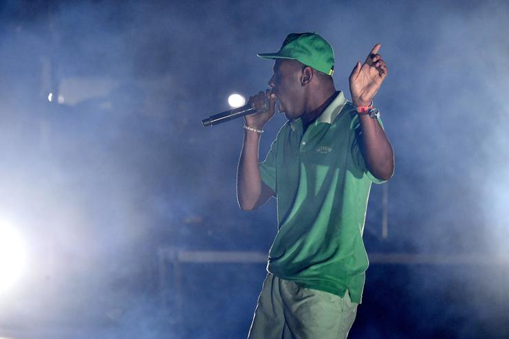 Tyler the Creator performs at the Outdoor Stage during day 2 of the Coachella Valley Music