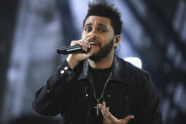 The Weeknd performs during the runway at the Victoria's Secret Fashion Show
