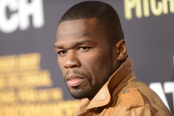 '50 Cent' Curtis James Jackson arrives at the premiere of Open Road Films' 'End of Watch'