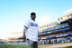 Kendrick Lamar Throws Out First Pitch At Dodgers Game